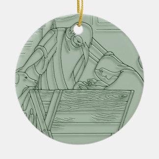 Come Let Us Adore Him Christmas ornament