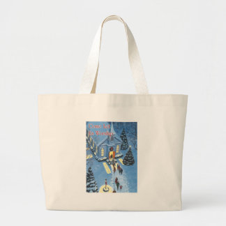Come Let Us Worship Christmas Church Canvas Bags
