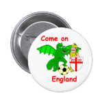 Come on England Button