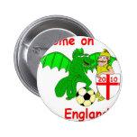 Come on England Pin