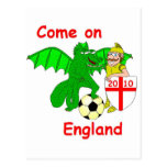 Come on England Postcard