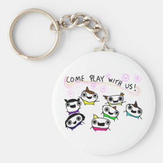 Come play with us key chain