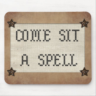 Come Sit A Spell Mousepad
