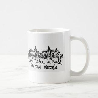 Come Take a Walk in the Woods Basic White Mug