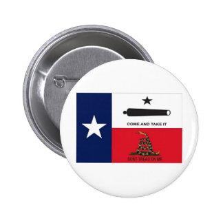 come take it 6 cm round badge