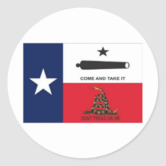 come take it round sticker