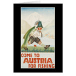 Come To Austria For Fishing Card