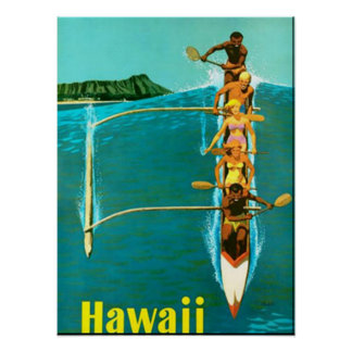 Come to Hawaii vintage poster