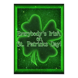Come To Our St Patrick's Day Get Together! 13 Cm X 18 Cm Invitation Card