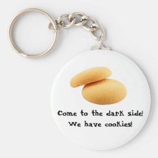 Come to the dark side! We have cookies! Basic Round Button Key Ring
