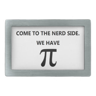 """""""Come to the nerd side"""" Belt Buckle White"""