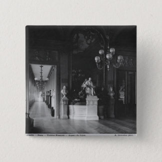 Comedie Francaise, view of the foyer 15 Cm Square Badge