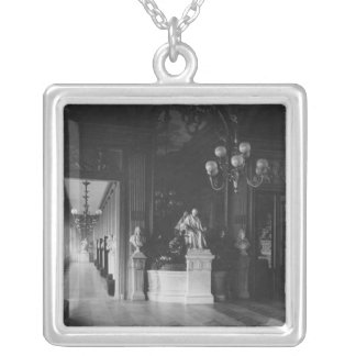Comedie Francaise, view of the foyer Silver Plated Necklace