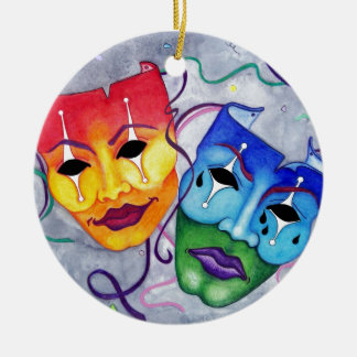 Comedy and Tragedy Christmas Ornament