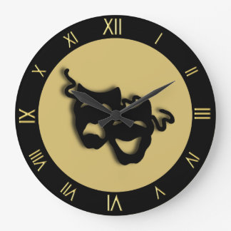 Comedy and Tragedy Golds Theater Wall Clock