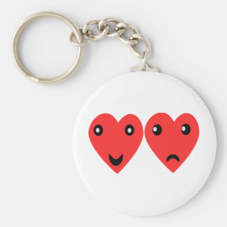 Comedy and tragedy masks basic round button key ring