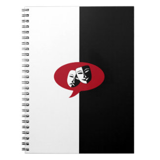 Comedy and Tragedy Masks Notebooks
