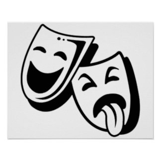 Comedy and Tragedy Masks Poster