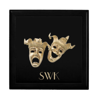 Comedy and Tragedy Monogram Mask Box Large Square Gift Box