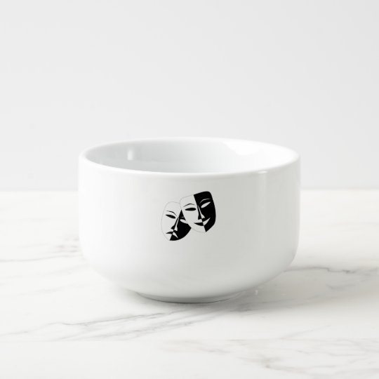 Comedy And Tragedy Soup Mug