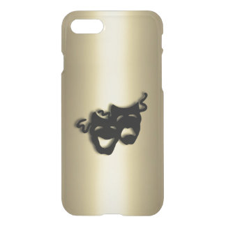 Comedy and Tragedy Theater Gold iPhone 7 Case
