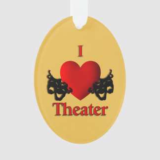 Comedy and Tragedy Theater Masks Gold