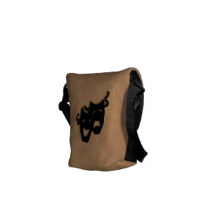 Comedy and Tragedy Theater Masks Mini Bag Courier Bags
