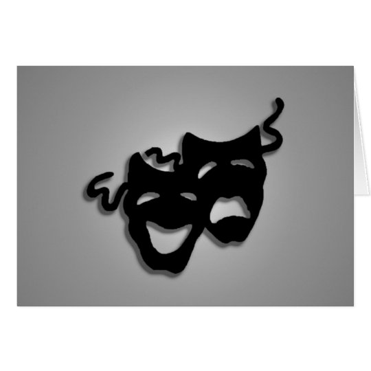 Comedy and Tragedy Theatre Masks Card
