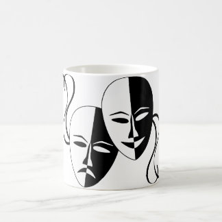 Comedy and Tragedy Theatre Masks/Faces Basic White Mug
