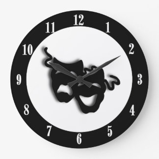 Comedy and Tragedy Unique Theatre Wall Clock