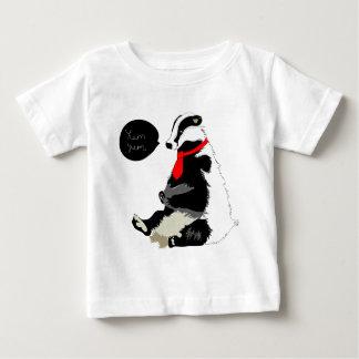 Comedy badger in neck tie baby T-Shirt