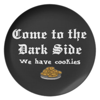 Comedy Come to the Dark Side Plate
