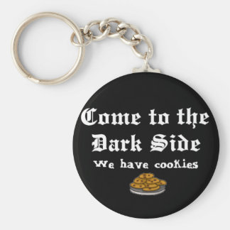 Comedy Keychain, Come to the Dark Side Basic Round Button Key Ring
