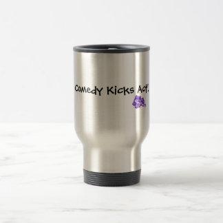 Comedy Kicks Act! Stainless Steel Travel Mug
