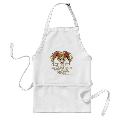 Comedy Of Errors Feast Quote (Gold Version) Aprons
