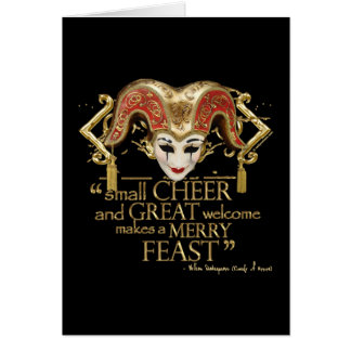 Comedy Of Errors Feast Quote (Gold Version) Card