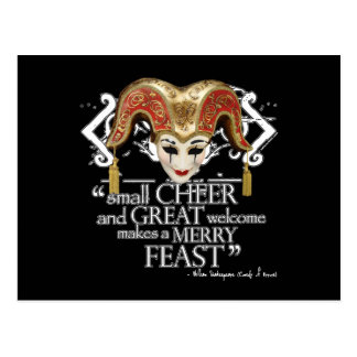 Comedy Of Errors Feast Quote Postcard