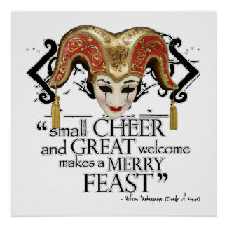 Comedy Of Errors Feast Quote Print