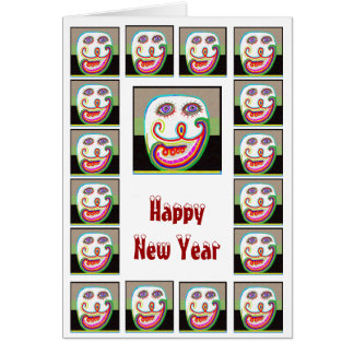 Comedy Show - Happy New Year Note Card