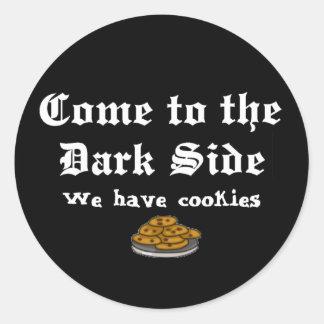 Comedy Sticker, Come to the Dark Side Classic Round Sticker