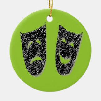 Comedy Tragedy Christmas Ornament