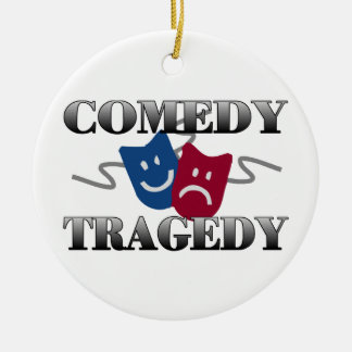 Comedy Tragedy Christmas Ornaments