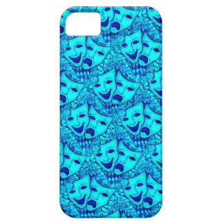 Comedy Tragedy Drama Masks, iPhone 5 Mask in Blue iPhone 5 Cover