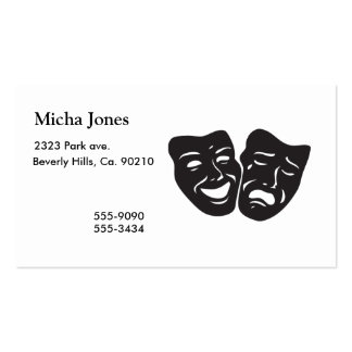 Comedy Tragedy Drama Theatre Masks Business Card