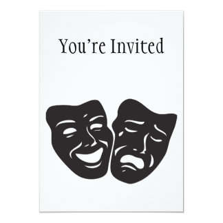 Comedy Tragedy Drama Theatre Masks Card