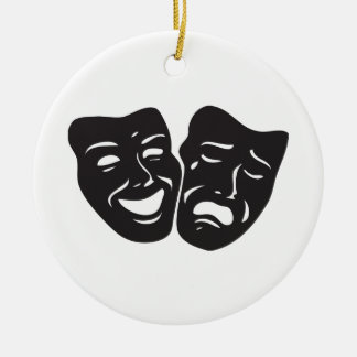 Comedy Tragedy Drama Theatre Masks Christmas Ornament