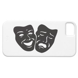Comedy Tragedy Drama Theatre Masks iPhone 5 Case