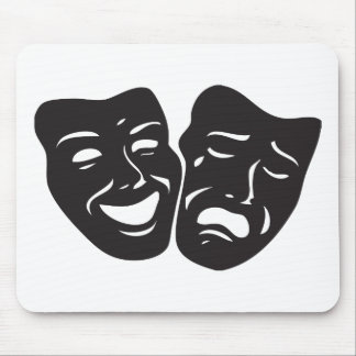 Comedy Tragedy Drama Theatre Masks Mouse Mat