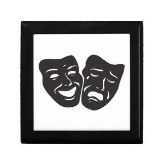 Comedy Tragedy Drama Theatre Masks Small Square Gift Box