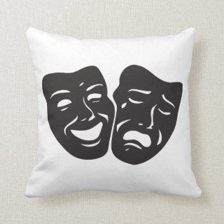 Comedy Tragedy Drama Theatre Masks Throw Pillow